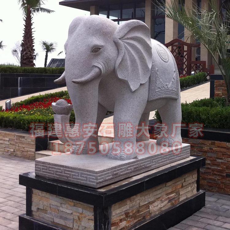 石雕汉白玉招财大象,喷水象图片大全,石雕大象红色