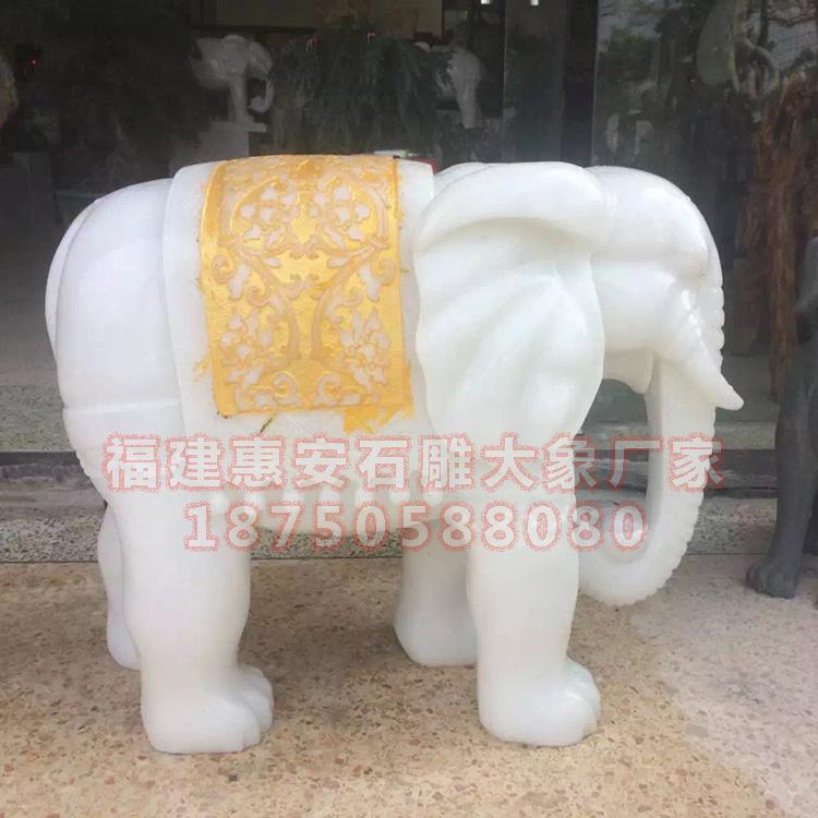 一级汉白玉石雕大象,大理石雕刻大象图片