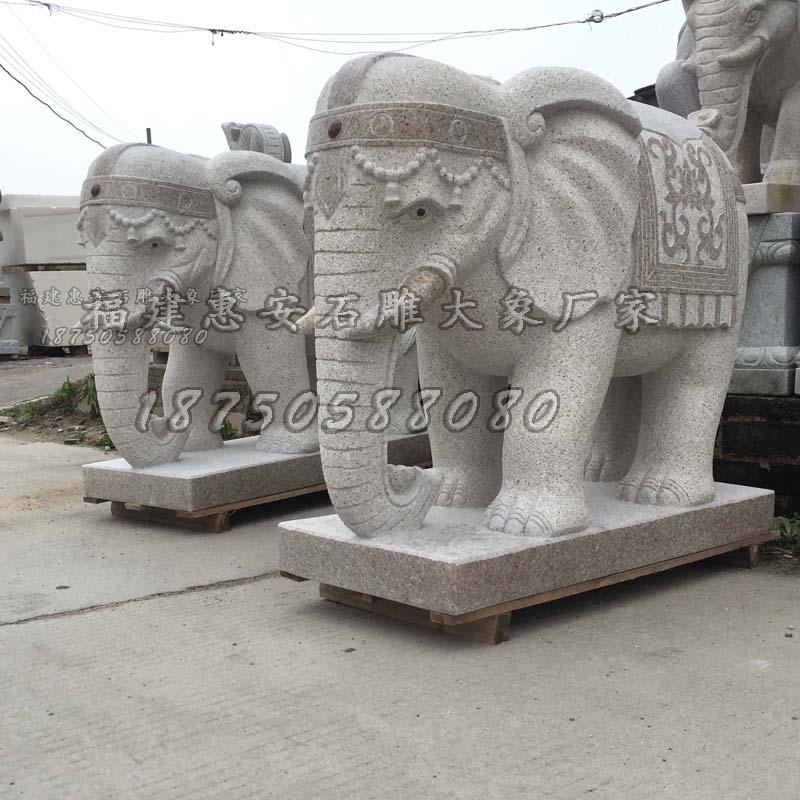 大象雕塑图片大全,石材大象,石雕大象镇宅家用